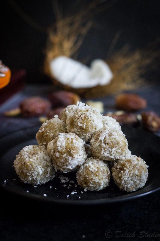 Coconut Date balls – Raw, Vegan, Refined sugar-free dessert