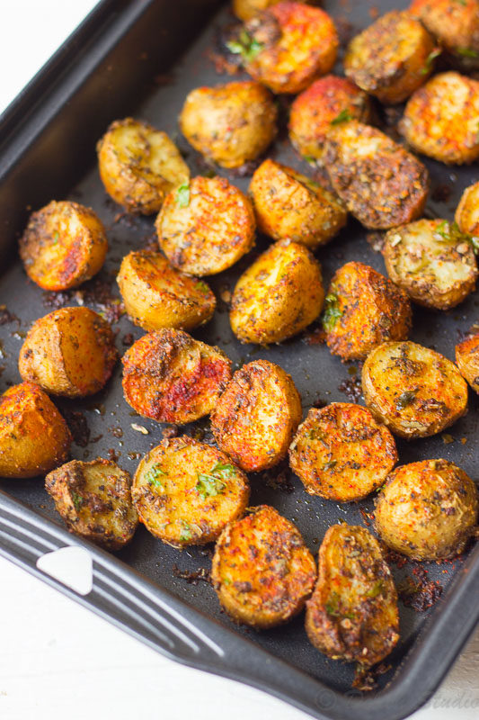 Crispy Spicy Cajun Roasted Potatoes recipe